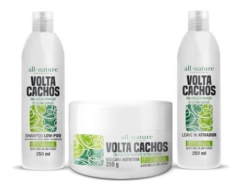 Kit Volta Cachos All Nature P/ Cabelos