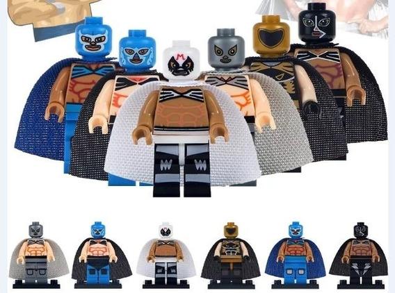Set 6 Luchadores Tipo Lego