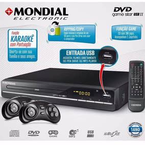 Dvd Player Game Promoção Star Ii D-14 300 Jogos Mondial 09