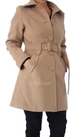 Tapado Largo Paño De Mujer Abrigo Sacon