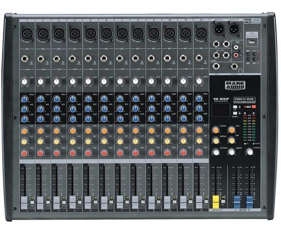 Mesa Som 12 Canais - Mark Áudio Cmx-12 Usb/bt C/efeitos