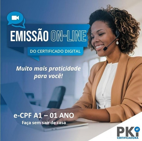 Certificado Digital E-cpf A1 (1 Ano) - Via Videoconferência