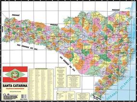 Mapa De Santa Catarina Político Rodoviario Ed. Atualizada