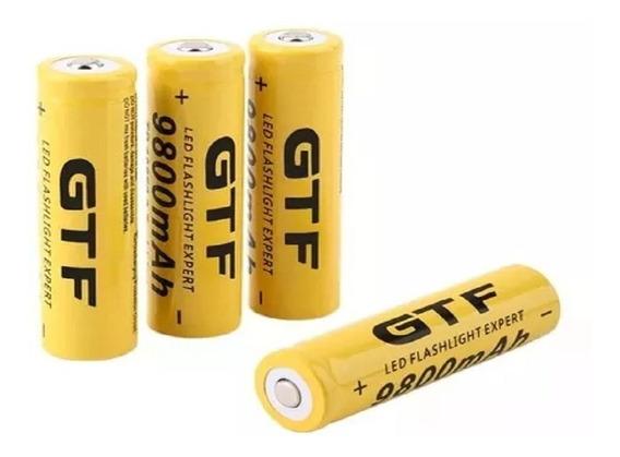 Bateria Recarregavel 18650 9800mah 3,7v -4 Unidades Barato