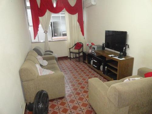Apartamento Com 2 Dormitórios À Venda, 85 M² Por R$ 275.000,00 - Campo Grande - Santos/sp - Ap3980