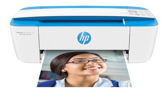 Impressora a cor multifuncional HP DeskJet Ink Advantage 3776 com Wi-Fi 100V/240V branca e azul-turquesa