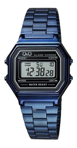 Relógio Q & Q Vintage Unissex Azul M173j007y C/ Nf