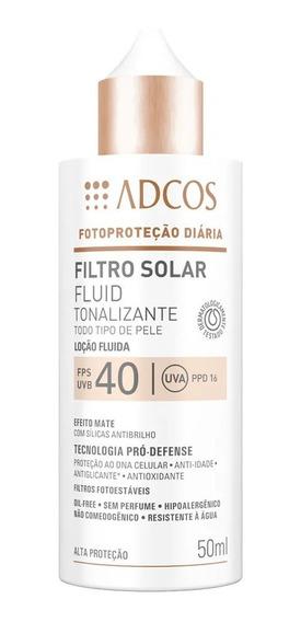Protetor Solar Facial C/ Base 6 Cores Diferentes Fps40 Adcos