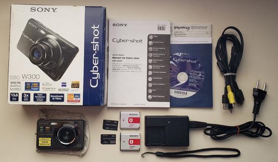 Câmera Digital Sony Dsc W300 + 2 Cards Mem + 2 Baterias