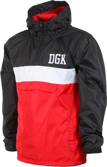Jaqueta Corta Vento Dgk Blocked Hooded 11495 Original