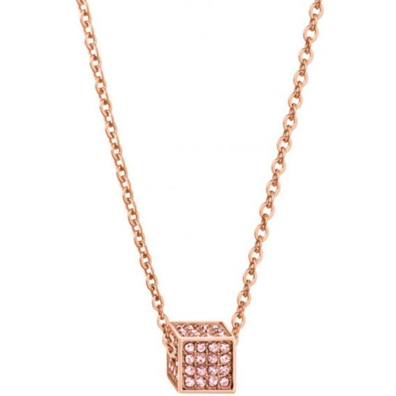 Collar Rocking Pvdr Cristal Sw Rosa Kj9cpn140100