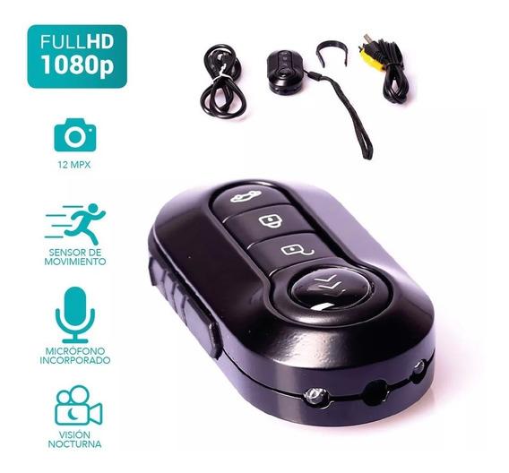 Llavero Auto Mini Camara Espia Oculta Seguridad Microfono Voz Bateria Interna Fotografía Video Hasta 32gb Micro Sd