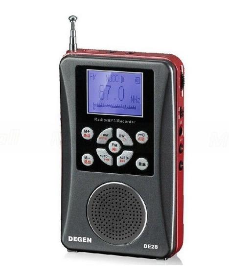 Rádio Degen De-28 Full-band Ondas Curtas Fm/mw/sw
