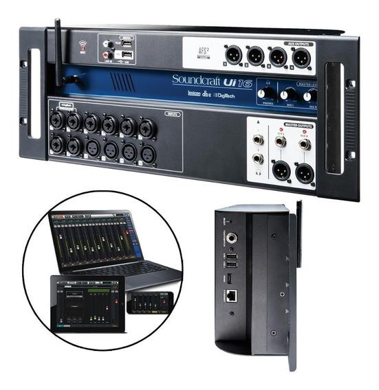 Mesa Som Digital Soundcraft Ui-16 Canais Wireless Usb Ui16