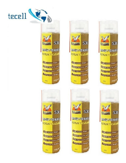 Spray Falcon 530 Contact Cleaner 550ml Original Kit 6 Peças