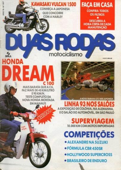 Duas Rodas N°207 Honda C100 Dream Kawasaki Vulcan 1500