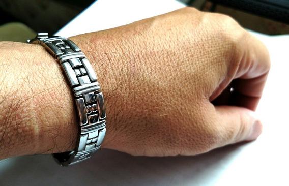 Rara Pulseira Em Aço Da Marca Renomada De Relógios Bulova