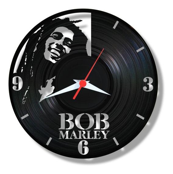Bob Marley Reggae Music Relógio Vinil Disco Lp Rastafari Art
