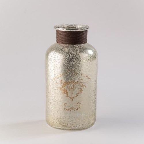 Imagen 1 de 4 de Botella Dorada Paris Gde 21cm - Dorada Këssa Muebles