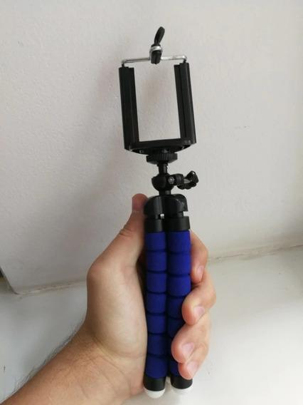 Mini Tripé Flexível Action Cam Smartphones iPhone Go Pro