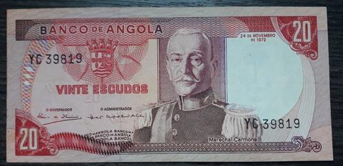 Angola - 20 Escudos De 1972 - Sob