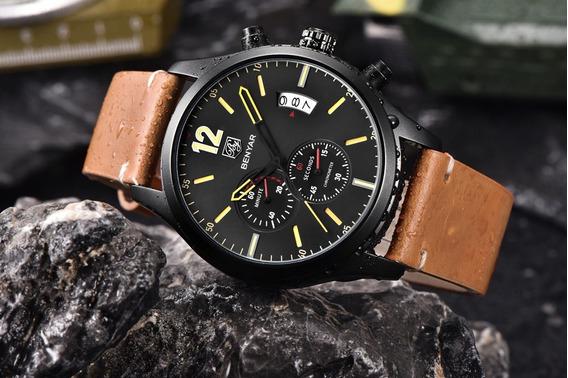 Relógio Pulso - Benyar Multifução 45mm - Vidro Hardlex