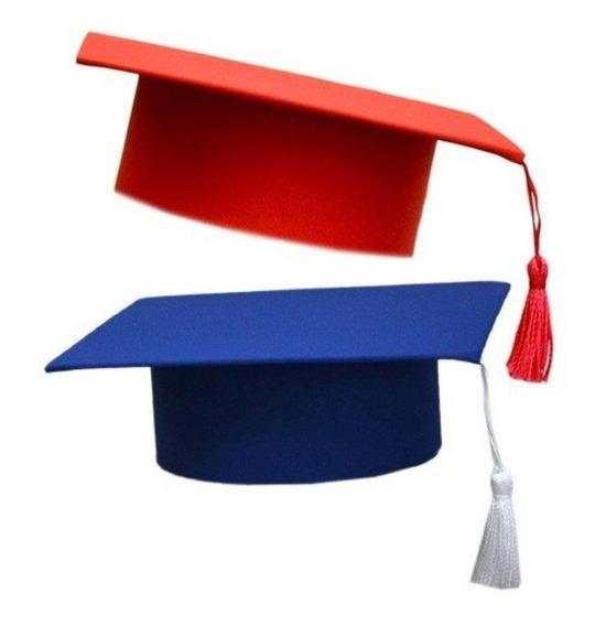 Capelo Formatura Graduação Infantil Ajustável Azul Royal