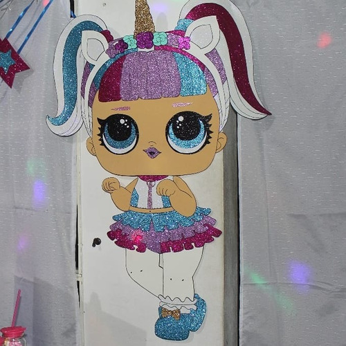 Cotillon Lol Decoración Goma Eva Fiesta Proops Selfie Piñata Mercado Libre
