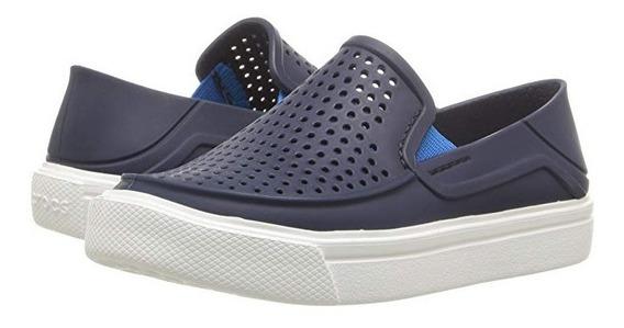 Crocs Azules Niños Crocband Mocasines Azul Marino Niño