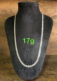 Colar De Prata Italiana 925 Modelo Groumet 17g 60cm