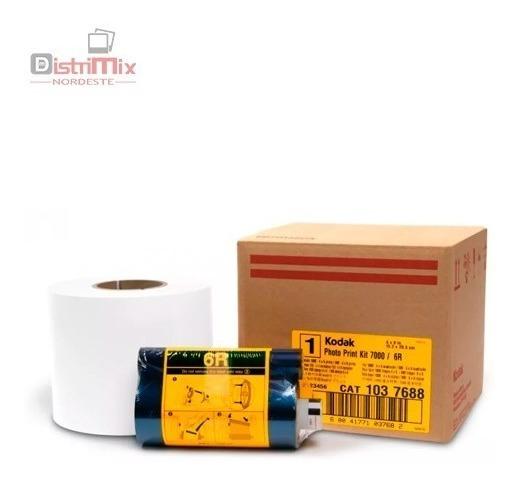 Kit Papel E Ribbon Para Impressora Kodak 7000