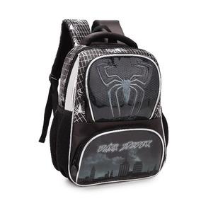 Mochila Bolsa Escolar Menino Infantil Dark Spider Preto/azul