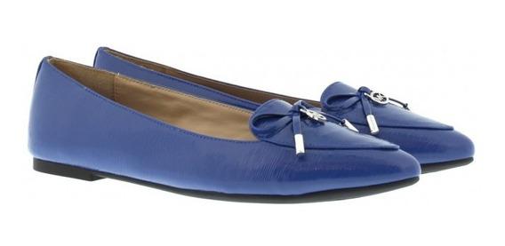 Zapatos Michael Kors Nancy Flat Azul Marino 23,25,25.5,26cm