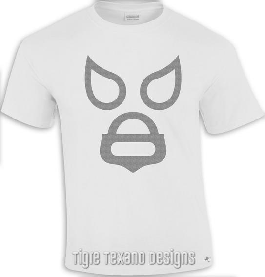 Playera Lucha Libre Enmascarado Plata Tigre Texano Designs
