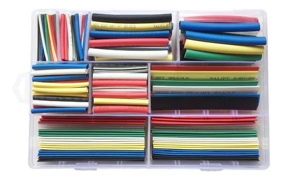 Kit Tubo Termoretrátil X 385 Unidades 7 Cores