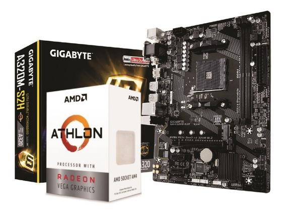 Kit Amd Athlon 3000g Vega 3 Gigabyte A320m S2h