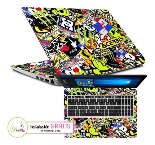 Skin Laptop Sticker Boom Protector Decorativo + Instalacion