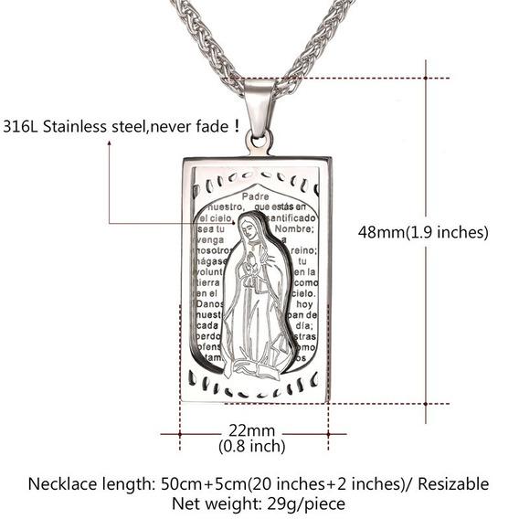 Corrente Gargantilha Cordão Banhado A Prata 950 Virgem Maria