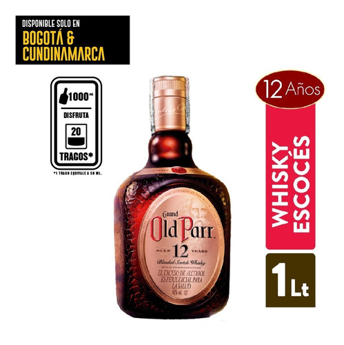 Imagen 1 de 2 de Whisky Old Parr 12 Anos 1lt - mL a $122
