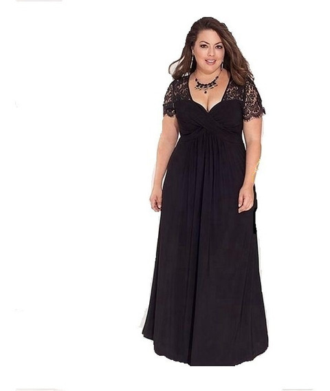 Elegante Vestido En Talles Grandes Especiales 5xl Para Busto 130-140 Cm