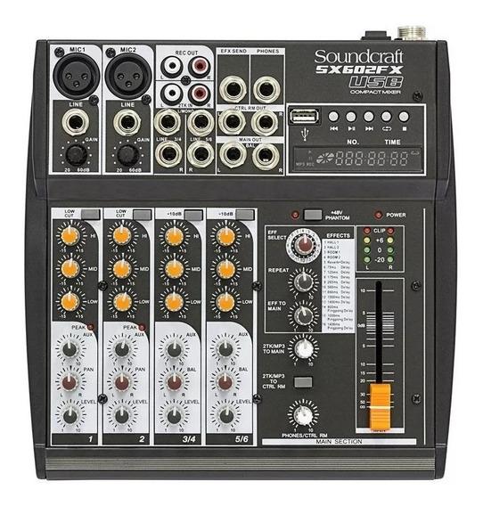 Mesa De Som Soundcraft Sx602fx Usb Com Efeitos Sx602 Fx