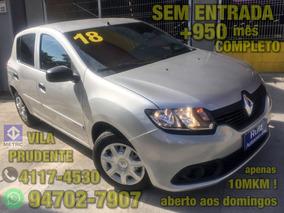 Renault Sandero 1.0 12v Authentique Sem Entrada + 949 Mes.