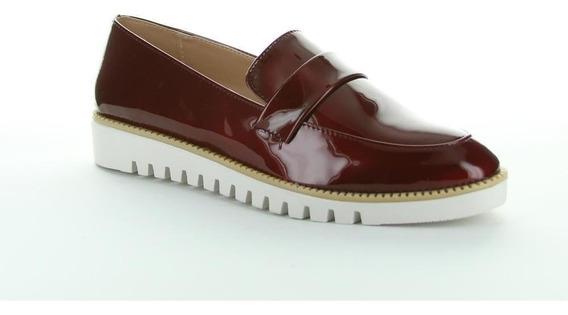 Zapato Cerrado Caramel Mujer Vino Tipo Charol 613