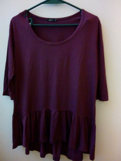 Camiseta Mujer Express Talle 4 (46) Color Uva Retro Vintage