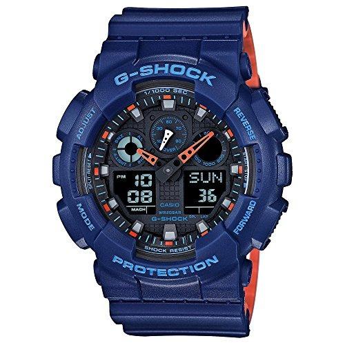 Reloj Casio G Shock, De Cuarzo, Resina, Color Azul