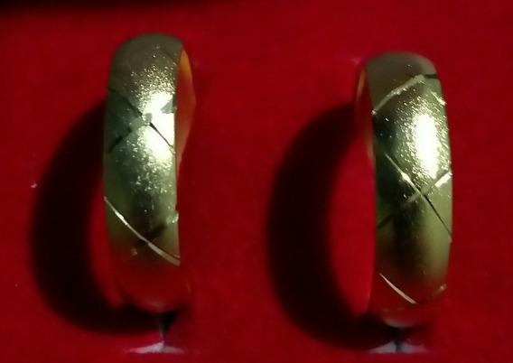 Alianças Com Detalhes Banahadas A Ouro 18k Cada 1 Custa 100