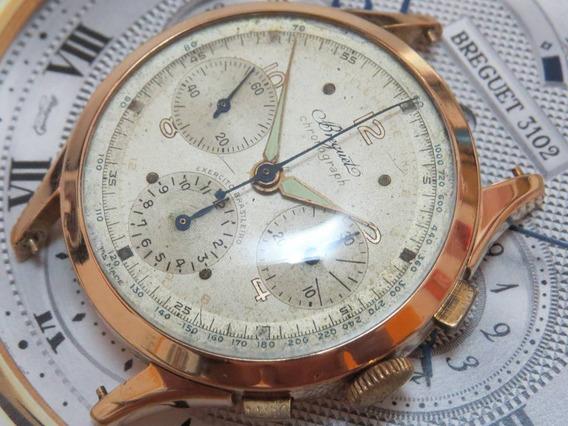Relógio Breguet Exército Guerra Cronógrafo Ouro Valjoux 72