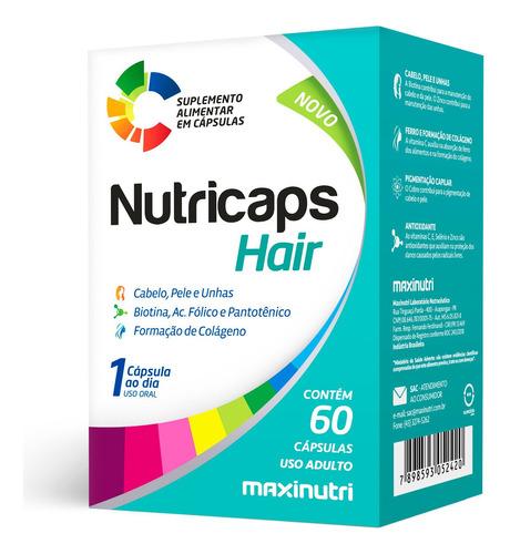 Nutricaps Hair Cabelo Pele E Unhas 60 Cápsulas Maxinutri