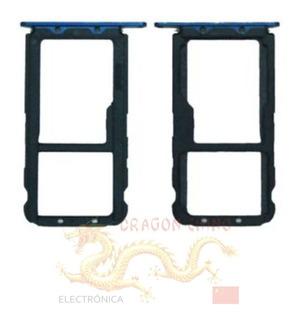 Bandeja Porta Sim Card Huawei Mate 20 Lite Negro Dorado Azul
