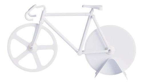 Cortador De Pizza Bicicleta Blanca